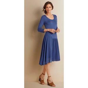 SOFT SURROUNDINGS Womens Dress Blue Asymmetrical